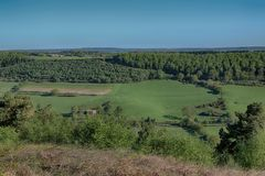 Wykeham Forest,Raptor Viewpoint, Near Pickering North Yorkshire. Wykeham Forest,Raptor Viewpoint, Near Pickering and Scarborough, North Yorkshire. Dramatic views royalty free stock photo