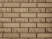 Wykończeniowe cegły dla ścian Gładki i odłupany obraz stock