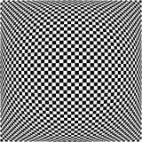 Wykoślawienie skutki na różnorodnych wzorach Geometryczny szpotawy textu royalty ilustracja