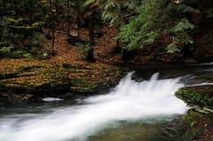 Wykoff Run, Pennsylvania - waterfall in early fall Stock Photography