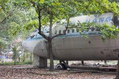 Wykolejena Boeing 707 samolot w Wietnam Zdjęcia Royalty Free
