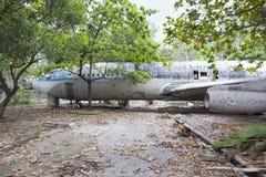 Wykolejena Boeing 707 samolot w Wietnam Fotografia Stock