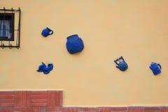 wykonać ręcznie osobliwą mur. Zdjęcie Royalty Free