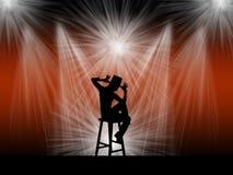 Wykonawca na scenie Obraz Royalty Free