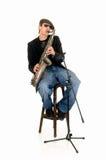 wykonawcy muzyczny saksofon Zdjęcia Royalty Free
