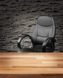 Wykonawczy krzesło w luksusowym biurowym biznesowym pojęciu Fotografia Stock