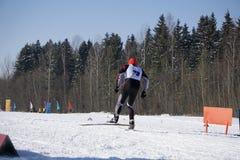 Wykonuje prędkość test podczas pucharu świata stylu wolnego narciarstwa obraz royalty free