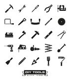 Wykonywać ręcznie narzędzie glifu ikony set royalty ilustracja