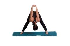 wykonywanie pozy jogi Zdjęcia Royalty Free