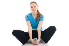 wykonywanie zrobić kobiety odosobnionym potomstwom jogi Fotografia Stock