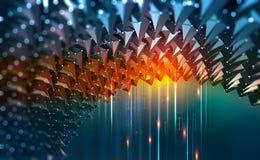 Wykopaliska dane Ewidencyjni przepływy w cyberprzestrzeni Globalna cyfrowa sieć przyszłość royalty ilustracja