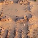 Wykopywane kolumny świątynia blisko Karima, Sudan zdjęcie royalty free