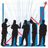 wykorzystanie wykresów przedsiębiorstw royalty ilustracja