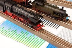 wykresów lokomotywy model stary Obraz Stock