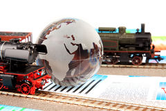 wykresów lokomotywy model stary zdjęcia stock