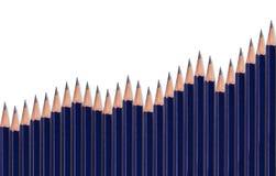 wykresów ołówki Fotografia Royalty Free