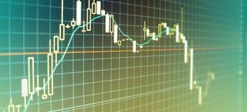Wykresów rynki walutowi Fotografia Royalty Free