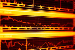 wykresów rynku monitoru zapas Zdjęcie Stock