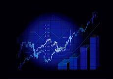 wykresów rynku zapas Fotografia Royalty Free