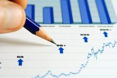 wykresów rynku zapas Zdjęcie Royalty Free