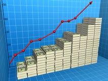 wykres Fotografia Stock