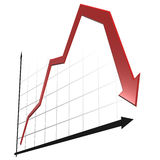 wykres 3 d Obrazy Stock