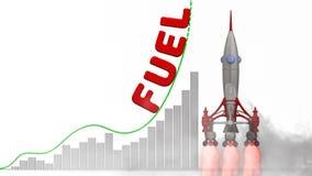 Wykres cena paliwa przyrost ilustracja wektor