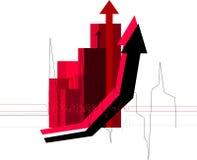 wykres czerwony Obraz Stock