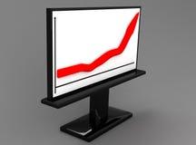wykres czerwony Obrazy Stock