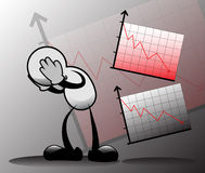 wykres down Obraz Stock