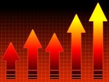 wykres gorące sprzedaży Fotografia Stock