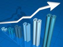 wykres handlowa Fotografia Stock