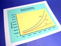 wykres handlowa Obraz Stock