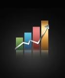 wykres ilustrował Fotografia Stock