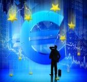 wykres kryzysu finansowego spada stopa Fotografia Royalty Free