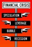 wykres kryzysu finansowego spada stopa royalty ilustracja