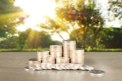 Wykres monet zapasu biznes i finanse Zdjęcie Royalty Free