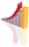 Wykres odbicie Stock Photo