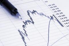 wykres przedstawiający pióra Obraz Stock