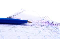 wykres przedstawiający pióra Fotografia Stock