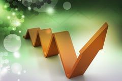 Wykres rusza się sukces Obrazy Stock