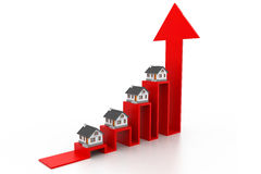 Wykres rynek budownictwa mieszkaniowego Fotografia Stock