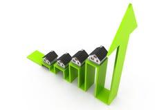 Wykres rynek budownictwa mieszkaniowego Zdjęcie Stock
