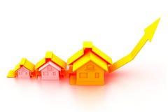 Wykres rynek budownictwa mieszkaniowego Zdjęcia Royalty Free