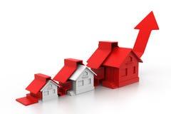 Wykres rynek budownictwa mieszkaniowego ilustracja wektor