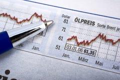wykres wiadomości akcji informacji Obrazy Stock