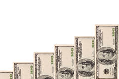 wykres wzrostu pieniądze Obrazy Stock