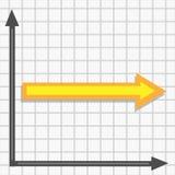 Wykres z prostym żółtym strzałkowatym wektorem royalty ilustracja
