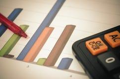 Wykresu kalkulatora pióro Obraz Stock