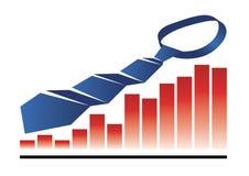 wykresu krawat Obraz Stock